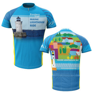 Maine Lighthouse Ride 2013 + Mens Short Sleeve REC Cycling Jersey (ORDER UP IF WANT LOOSER)