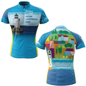 Maine Lighthouse Ride 2013 + Womens Short Sleeve REC Cycling Jersey (ORDER UP IF WANT LOOSER)